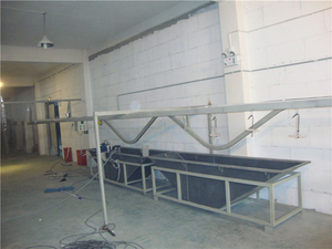 Jiangsu Liangji Wax Mould Cleaning Conveyor Line Manufacturing Site